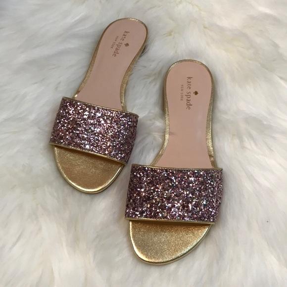 22f475ba8af8 kate spade Shoes - Kate Spade Madeline pink gold glitter slide 8 M
